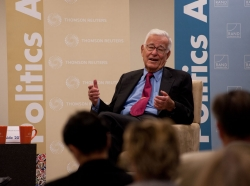 RAND Trustee Harold Brown speaks at Politics Aside 2012