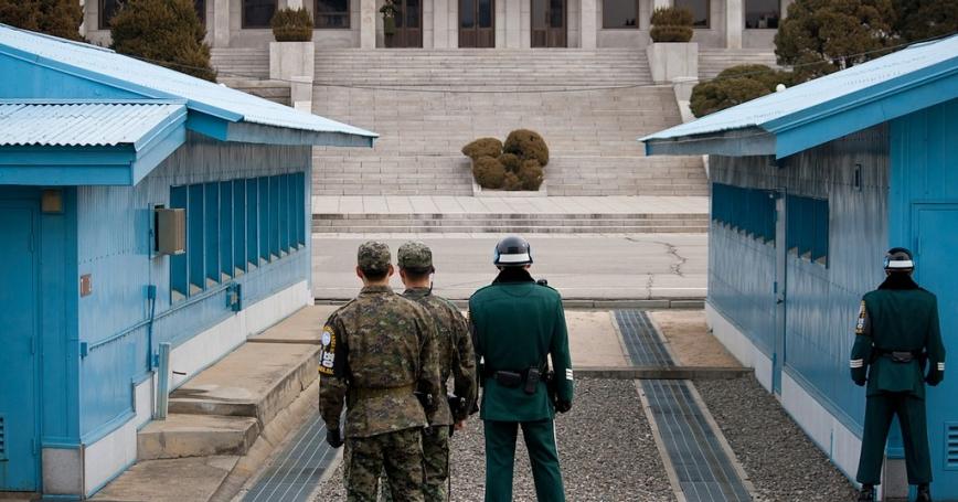 ROK guards in the DMZ