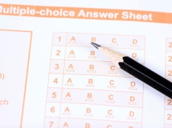 multiple choice standardized test answer sheet