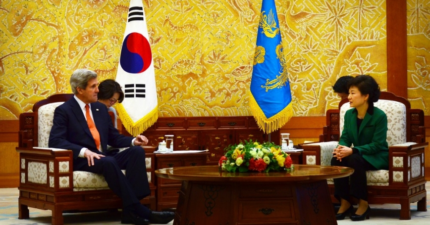 U.S. Secretary of State John Kerry meets with South Korean President Park Geun-hye