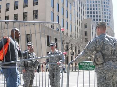 Massachusetts National Guardsmen in Boston