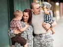 a military family of four