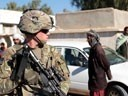 U.S. Army soldier and security force team member in Afghanistan