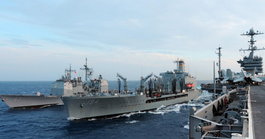 U.S. Navy patrolling the Western Pacific
