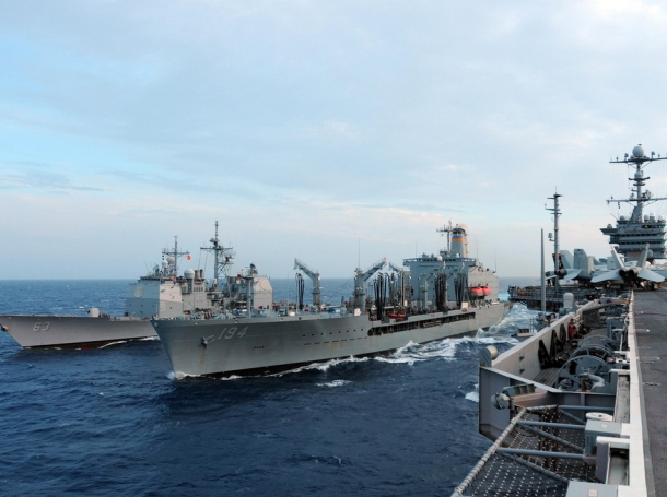 Navy patrolling the Western Pacific