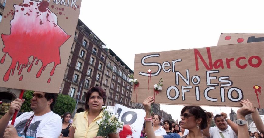 protest against violence in Juarez, Mexico