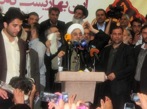 Hassan Rouhani giving a speech