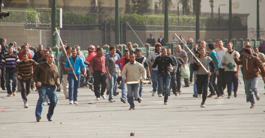 Egyptians protesting in Tahrir Square in March 2013