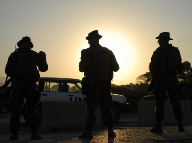 Marines stand vigilant at U.S. embassy in Haiti