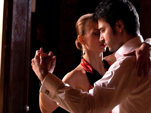 a couple salsa dancing