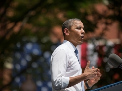 President Obama delivers a speech on climate change on June 25, 2013