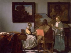 Vermeer, The Concert, 1658-1660. Oil on canvas
