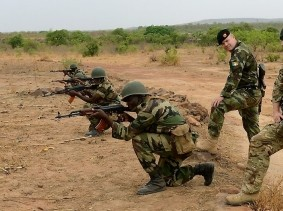 Irish Defence Force and British Army working together in Mali