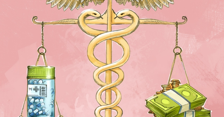 illustration of weighing medical costs