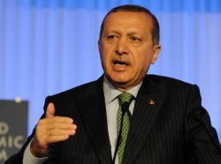 Turkey Prime Minister Erdogan speaking at the World Economic Forum on the Middle East, North Africa and Eurasia in Istanbul, June 2012