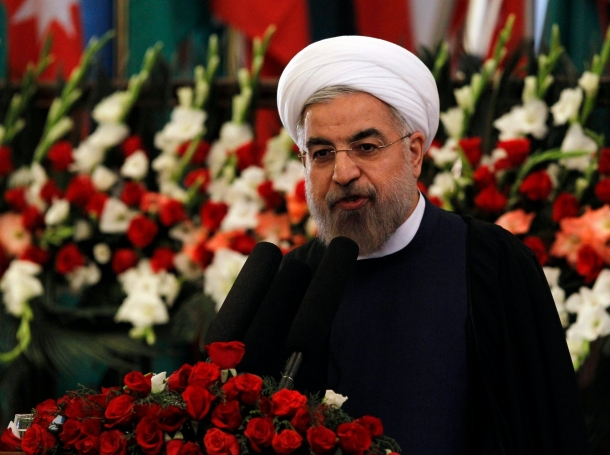 Iran's President Hassan Rouhani speaks during an event to mark Nawroz, the Persian New Year, in Kabul March 27, 2014