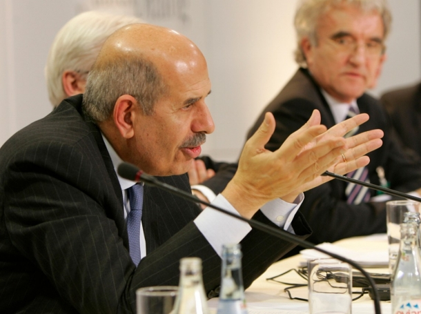 Mohamed ElBaradei when he was the International Atomic Energy Agency chief, who is now serving as vice president for foreign relations
