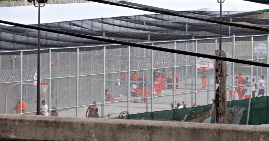 inmates outside the Orleans Parish Prison