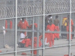 inmates outside the Orleans Parish Prison