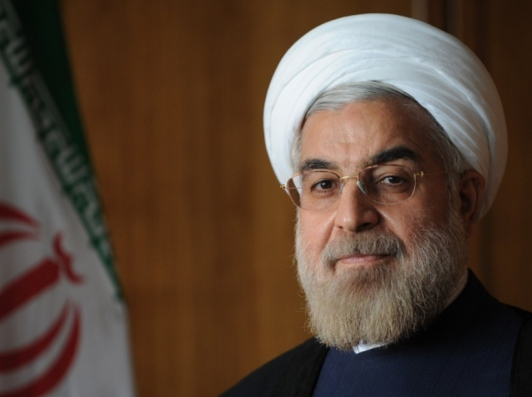 The official photo of Iranian President Hassan Rouhani.