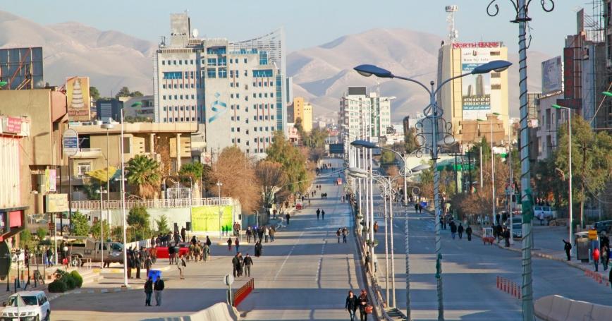 Sulaimania city center, Iraq, December 31, 2012