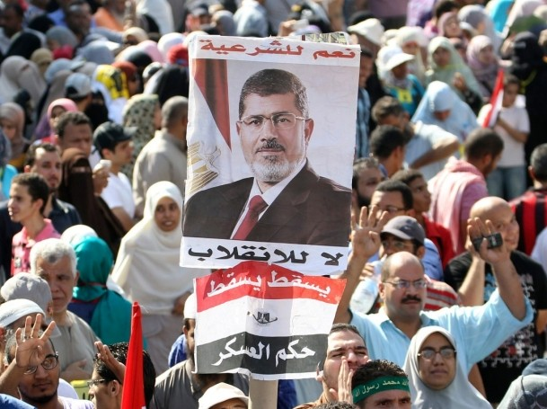 Supporters of Muslim Brotherhood during a protest in Cairo August 23, 2013