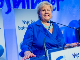 Norway's newly elected prime minister Erna Solberg