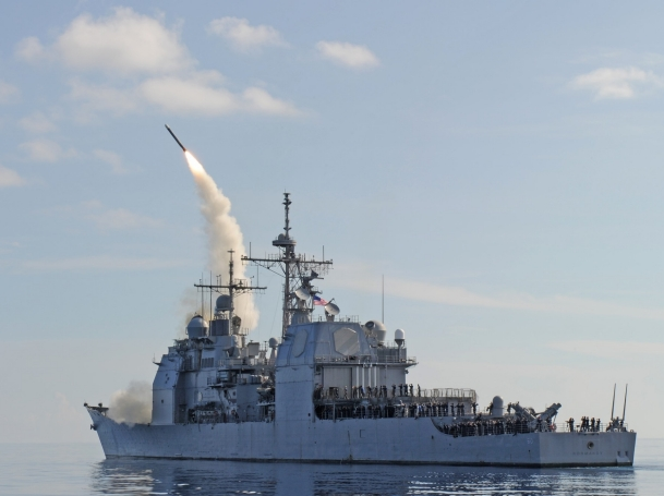 USS Normandy (CG-60) conducts Tomahawk missile 500th operational test launch (OTL-495) July 20 off Southern Florida.