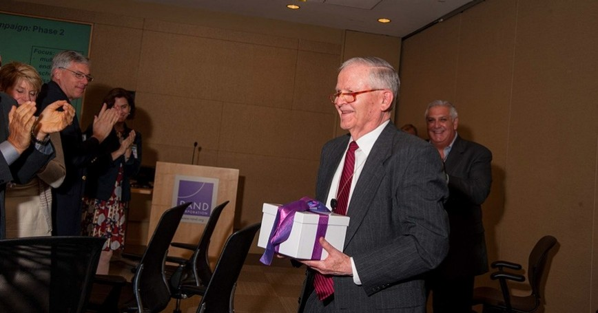 Frederick S. Pardee being honored for his gift to PRGS