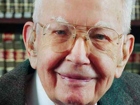 Ronald Coase, pictured in 2011