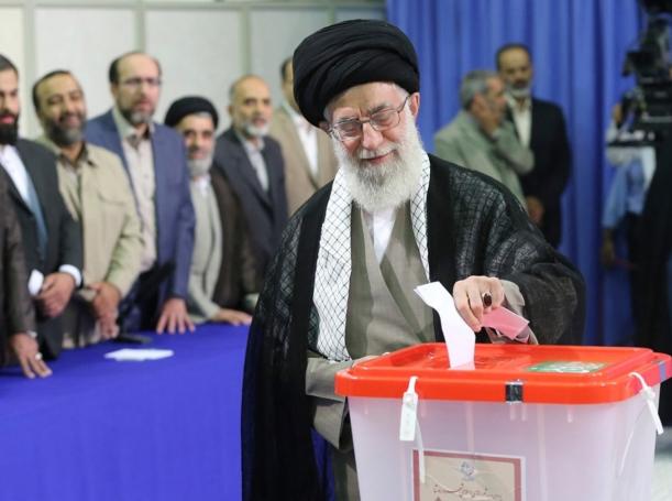 Iran's Supreme Leader Ayatollah Ali Khamenei casts his ballot in central Tehran June 14, 2013