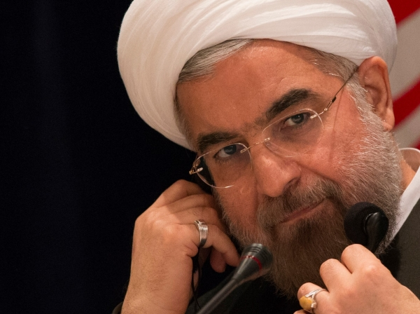 Iran's President Hassan Rouhani takes questions from journalists during a news conference in New York September 27, 2013