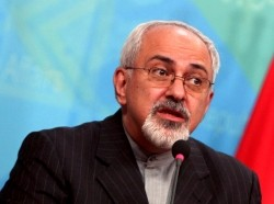 Iranian Foreign Minister Mohammad Javed Zarif speaking at a news conference in Baghdad, September 8, 2013