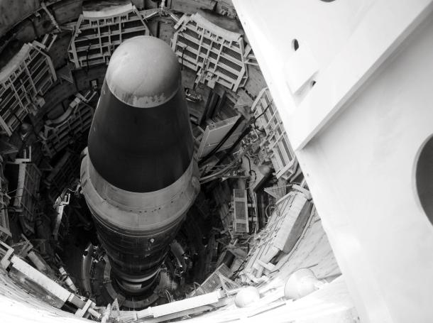 A titan missle inside an underground silo