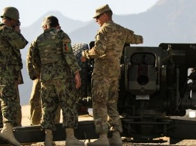 Afghan artillerymen in a live-fire exercise are certified and ready to lead