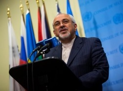 Iran's Foreign Minister Mohammad Javad Zarif speaks to the media after a meeting of foreign ministers at the U.N. Headquarters in New York September 26, 2013