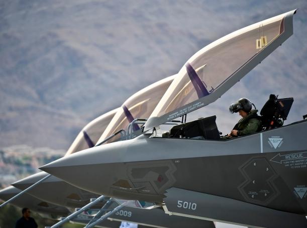 preflight checks inside an F-35A Lightning II