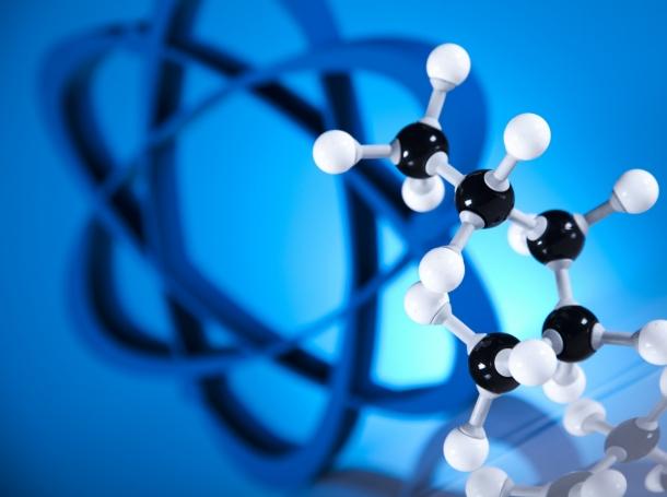 atom and molecules model