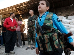 A young Free Syrian Army fighter