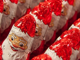 Candies in Santa Claus wrappers, photo by timboosch/Fotolia