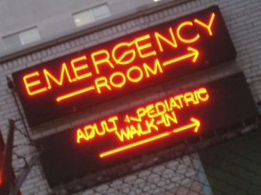 neon Emergency Room sign