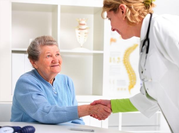 Senior woman visiting a doctor