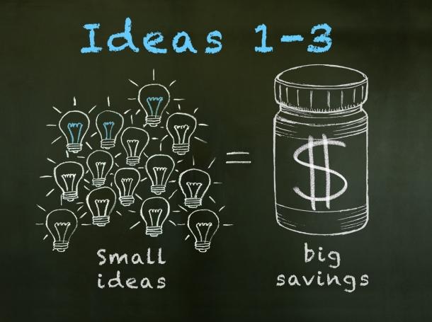 Small ideas lead to big health savings: Ideas 1-3