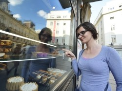 woman looking into a bakery window, store, people, food, caucasian, shop, sweet, woman, cake, market, happy, pastry, purchase, sale, supermarket, grocery, shelf, retail, person, commerce, choice, buy, biscuit, cookies, commercial, female, bakery, baker, work, product, wood, city, street, urban, shopper, yummy, snack, sugar, varied, offer, homemade, patisserie, fresh, goods, production, torte, service, healthy, nutrition, meal, customer