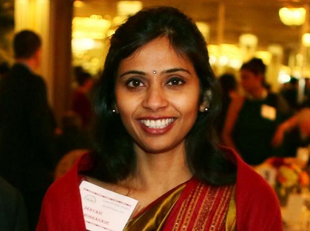 Devyani Khobragade attends the India Studies Stony Brook University fundraiser event in Long Island, New York, December 8, 2013
