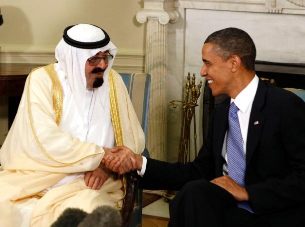 U.S. President Barack Obama meets with King Abdullah of Saudi Arabia