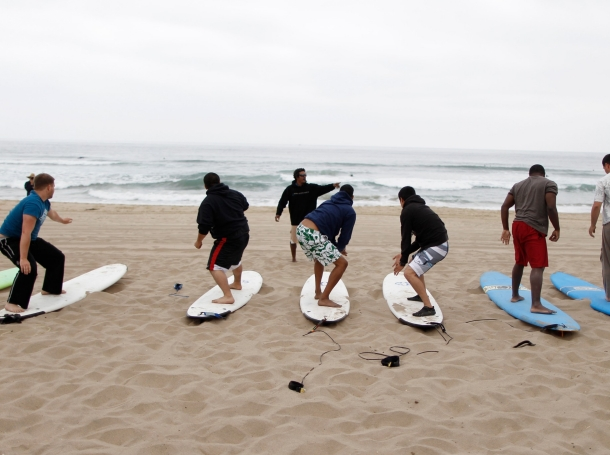 Surf therapy program for military veterans run by the Jimmy Miller Foundation