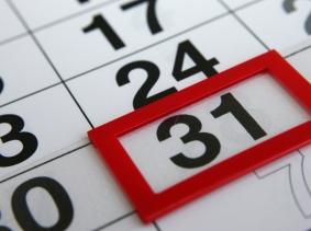 calendar with the 31st highlighted