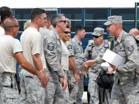 Airmen show support to reservists deploying to Afghanistan