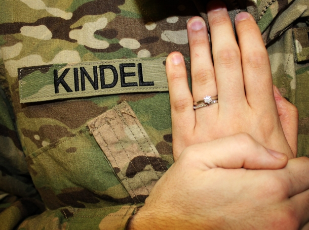 Army husband and wife